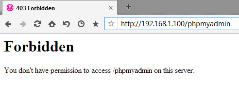 You don't have permission to access /phpmyadmin on this server