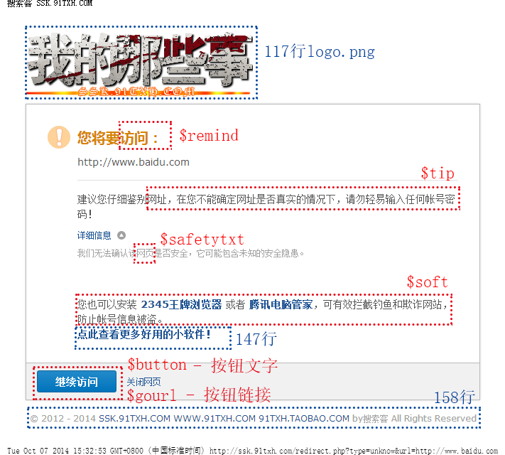 页面内容与代码关系
